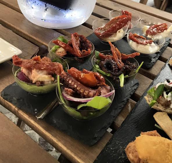 aperitivo di pesce panni di mare torino