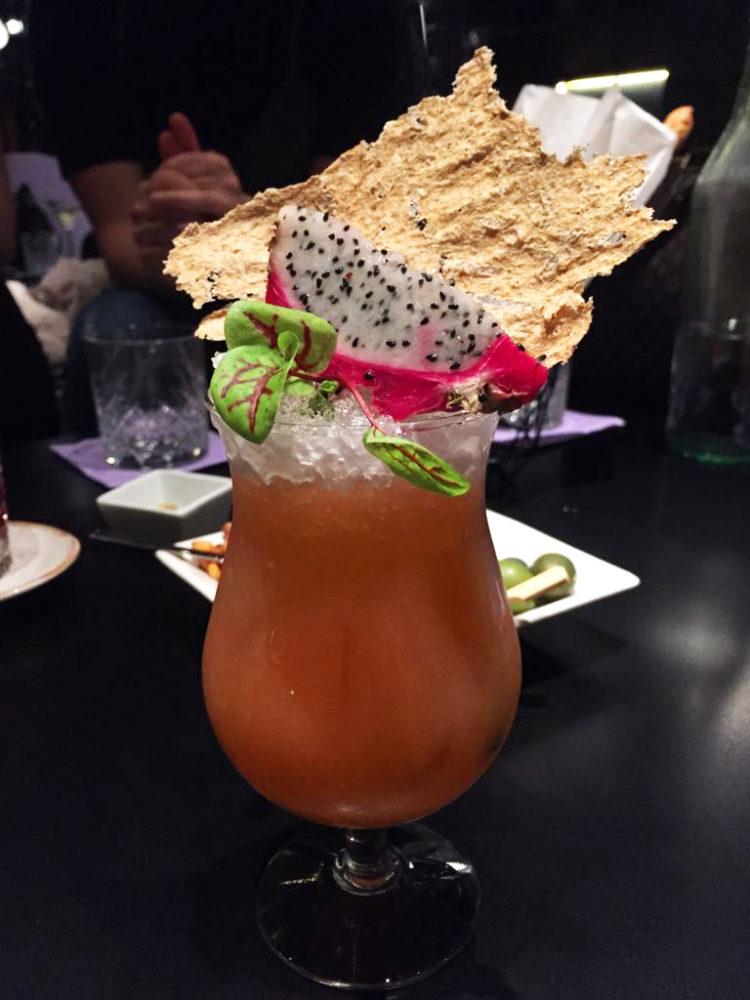 cocktail sbirulino con spirulina e succo di aloe