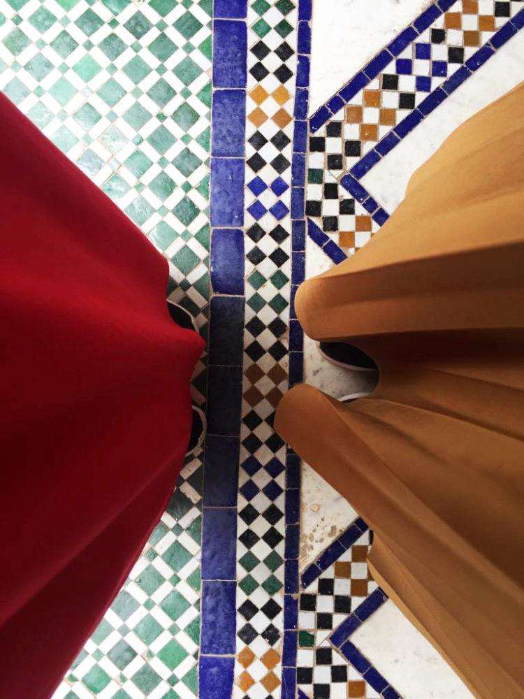 pavimenti del palazzo di bahia di marrakech