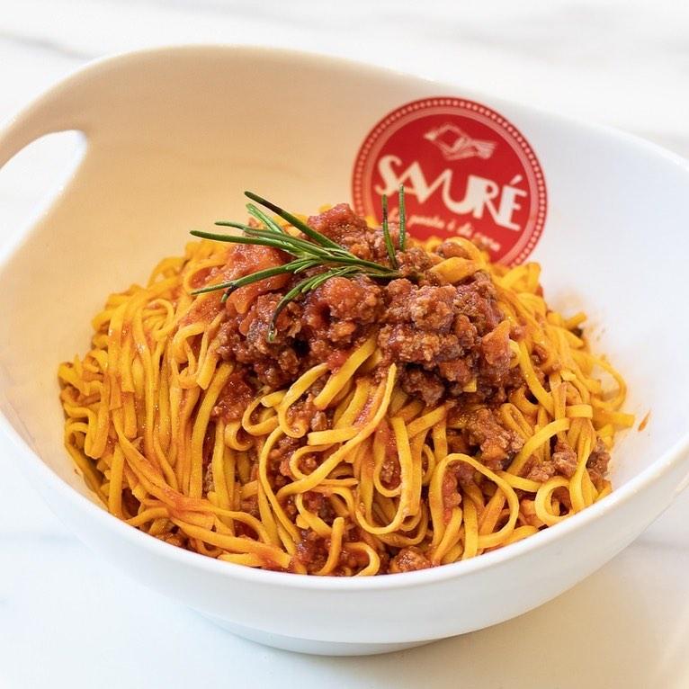 piatto di pasta al ragù
