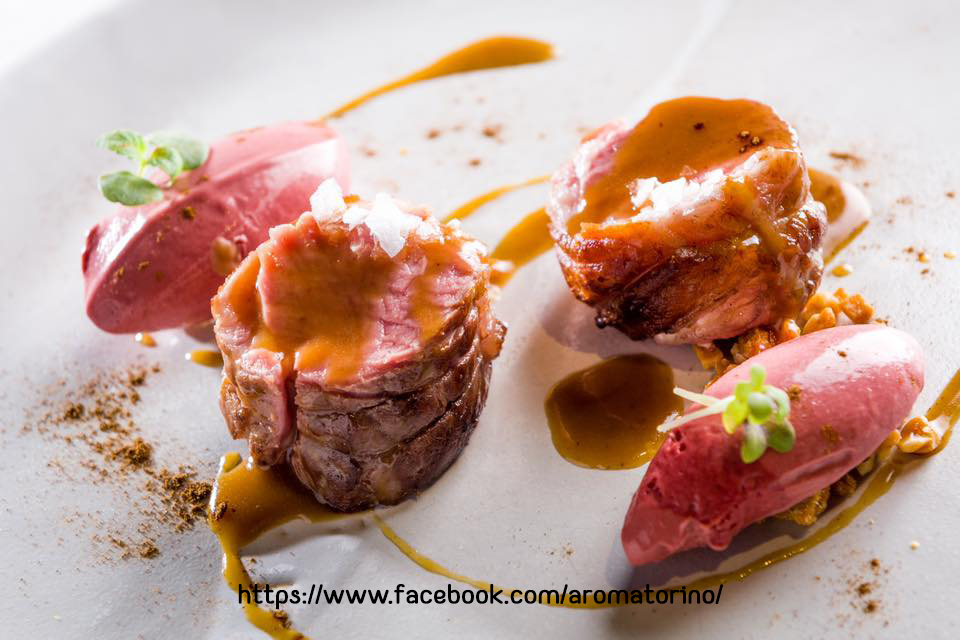 piatto gourmet con carne