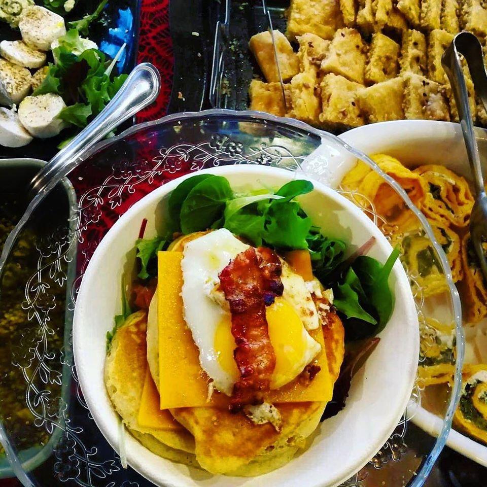 pancake con uovo e pancetta