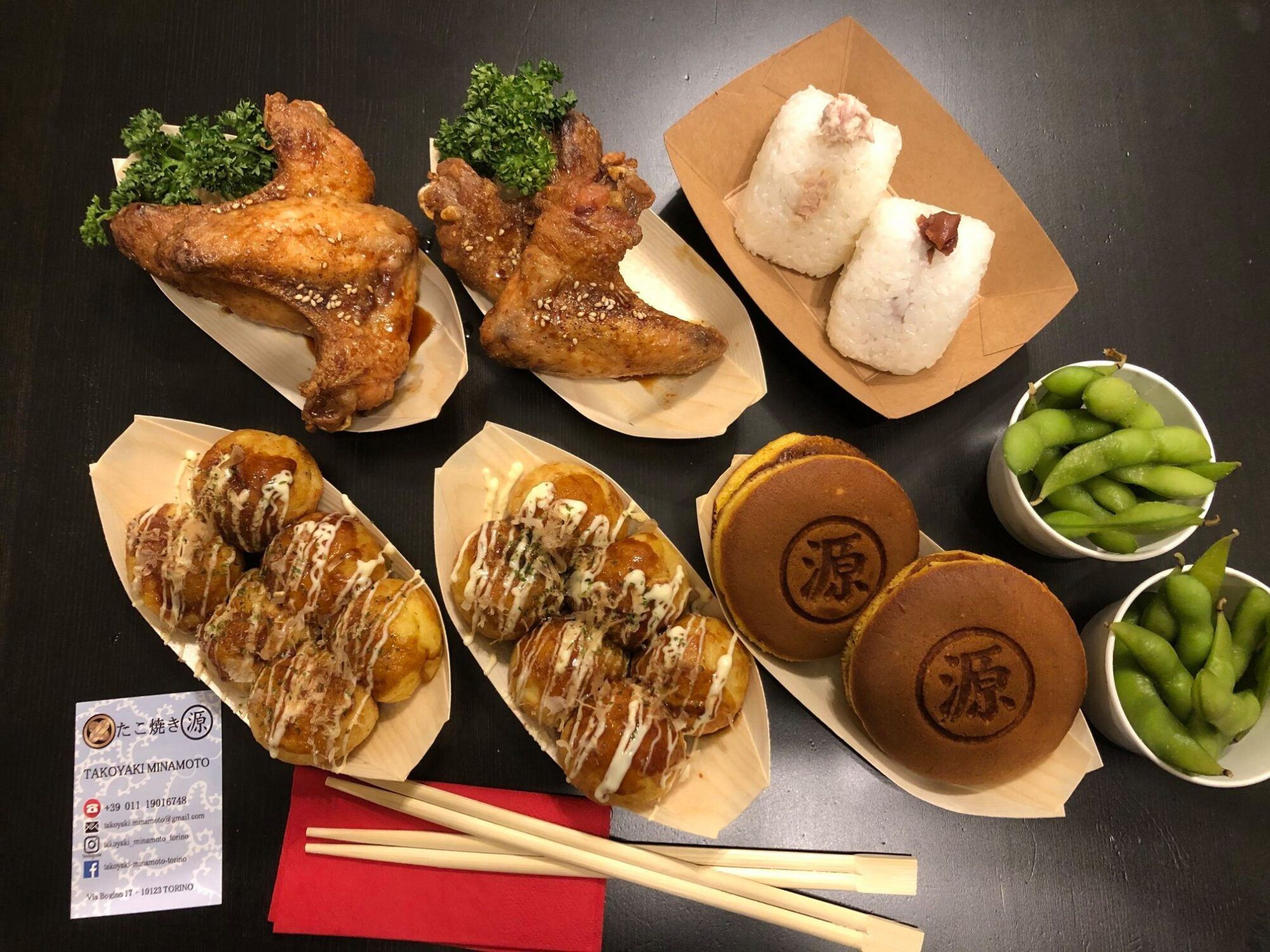 takoyaki e cibo giapponese