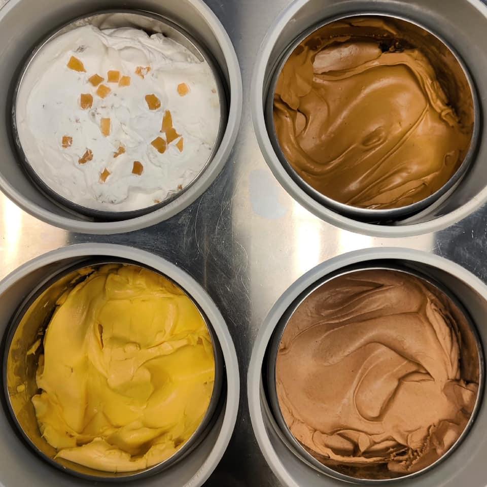 coppe di gelato vari gusti